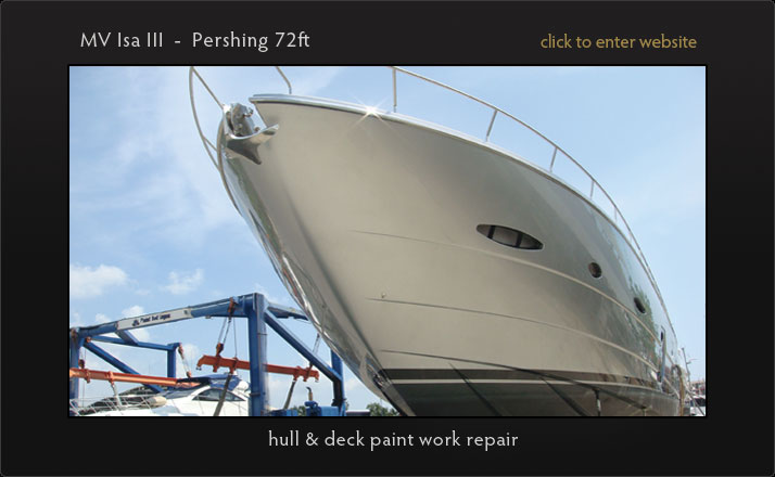 Painting, fairing and varnishing of your yacht in Phuket. Custom shrink wrap for larger vessels and super yachts. Optimal application conditions year round.